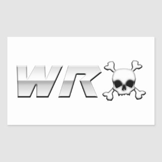WRX with Scull Rectangular Stickers