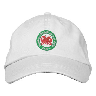 WSCO Logo Ball Cap - White Embroidered Baseball Caps