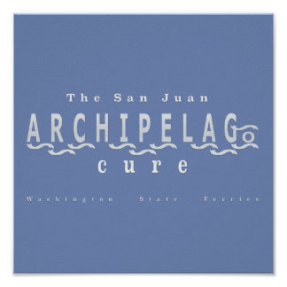 WSDOT Ferries San Juan Archipelago Cure Poster
