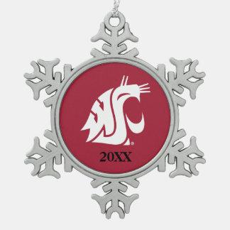 WSU Primary Mark - White Ornament