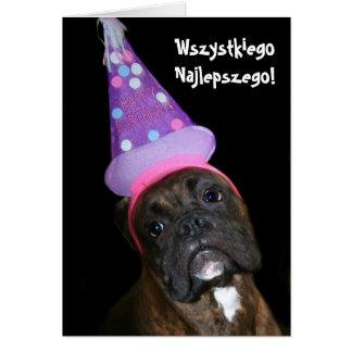 Wszystkiego Najlepszego Polish Birthday boxer card