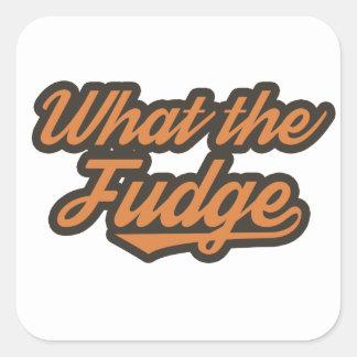 WTF Funny Square Sticker