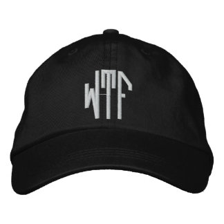 WTF lg oct adj blk ht Embroidered Baseball Caps
