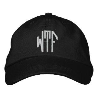 WTF lg oct adj blk ht Embroidered Baseball Caps