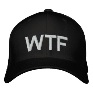 WTF military fitted blk Embroidered Cap
