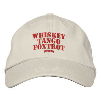 WTF over Embroidered Baseball Cap