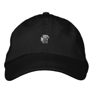 WTF sm 3ltr adj blk ht Embroidered Hat