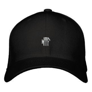 WTF sm oct fitted blk ht Embroidered Hats