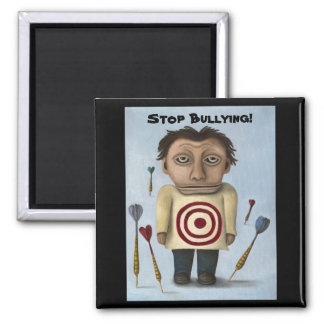 WTF?! Stop Bullying! Square Magnet
