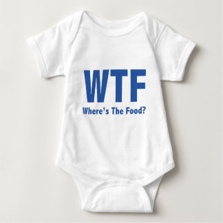 WTF Where's The Food? Baby Bodysuit