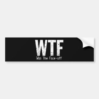 WTF: Win The Face-off (Hockey) Bumper Sticker
