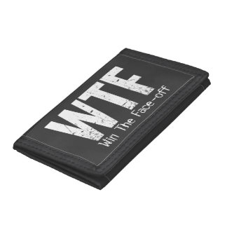 WTF: Win The Face-off (Hockey) Trifold Wallet