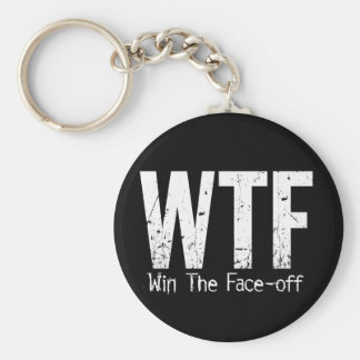 WTF Win The Face-off Key Chain