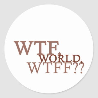 WTF World Classic Round Sticker