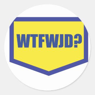 WTFWJD CLASSIC ROUND STICKER