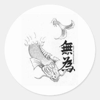 Wu Wei Koi Round Sticker