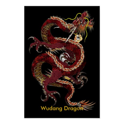 Wudang Dragon Poster - Customised