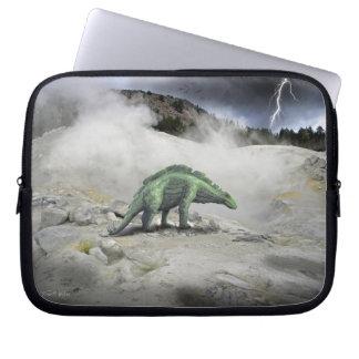 Wuerhosaurus Near Volcanic Vent Laptop Sleeve