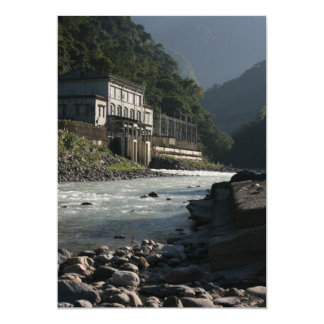 Wulai power station, Wulai, Taipei County, Taiwan 13 Cm X 18 Cm Invitation Card
