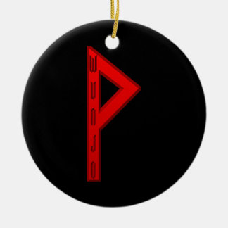 Wunjo Rune red Christmas Ornament