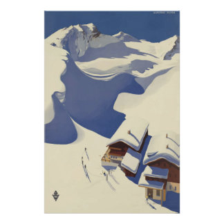 Wunshhelm Austria Vintage Travel Poster