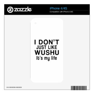 WUSHU IS MY LIFE iPhone 4S DECALS