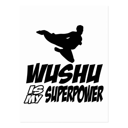 wushu is my superpower postcard