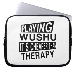 WUSHU IT IS CHEAPER THAN THERAPY LAPTOP COMPUTER SLEEVE