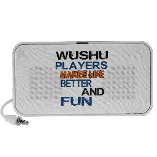 Wushu Players Makes Life Better And Fun Mp3 Speakers