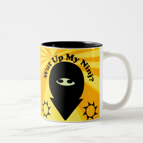 Wut Up My Ninj? Two-Tone Coffee Mug