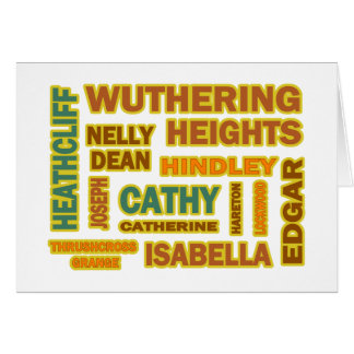 Wuthering Heights Characters Card