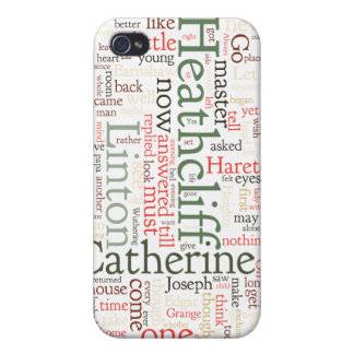 Wuthering Heights Word Cloud Cover For iPhone 4