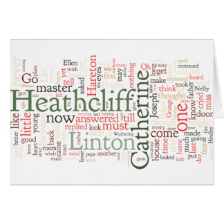 Wuthering Heights Word Cloud Greeting Card