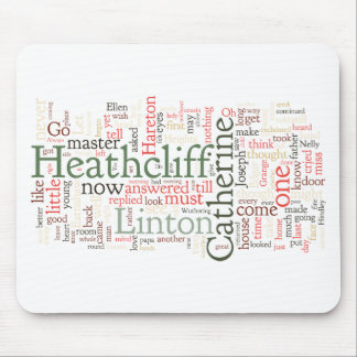 Wuthering Heights Word Cloud Mouse Mat