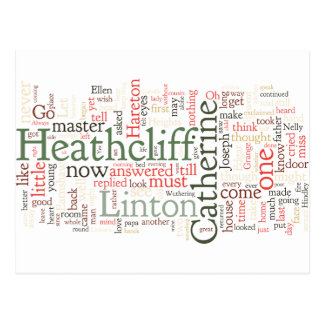 Wuthering Heights Word Cloud Postcard