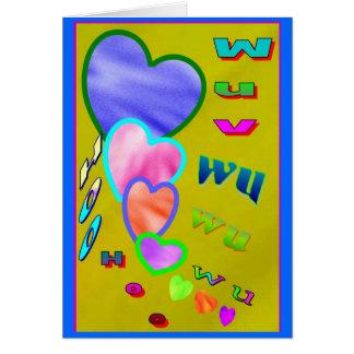 Wuv wu - a BIG bUNCH OF bIG bUNCHES Greeting Card