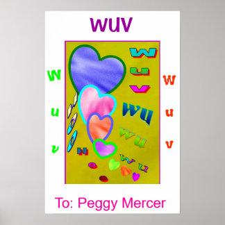 Wuv wu Hearts Poster