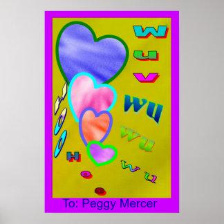 Wuv wu Hearts Print