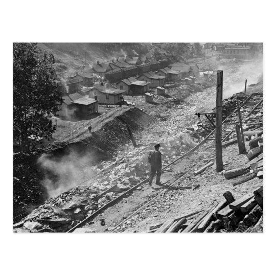 WV Coal Miner Town: 1935 Postcard