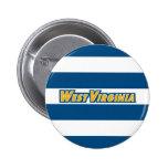 WV West Virginia Mark 6 Cm Round Badge