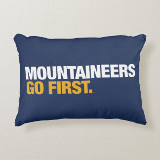 WVU Mountaineers Go First Decorative Cushion