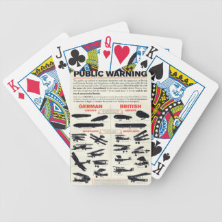 WW1 Aircraft Recognition Poster Bicycle Playing Cards