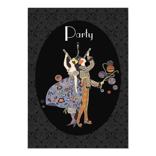 WW1 Vintage Art Deco Party Personalised Card