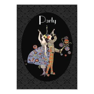 WW1 Vintage Art Deco Party Personalised 13 Cm X 18 Cm Invitation Card