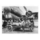 WW2 Aeroplane and Crew: 1940s Postcard