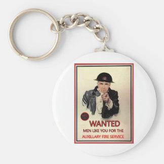 WW2 AFS Recruitment Poster Keychain