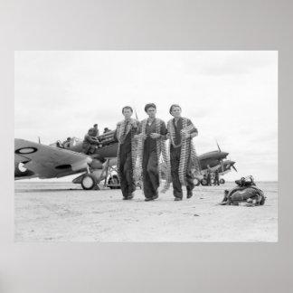 WW2 Airplane Ammunition 1940s Print