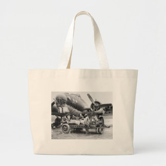 WW2 Airplane and Crew 1940s Canvas Bags