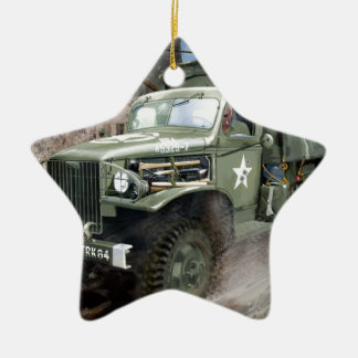 WW2 American Army Truck Christmas Ornament