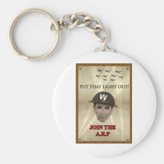 WW2 ARP Recruiting Poster Basic Round Button Key Ring